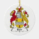 Escudo de la familia de Barr Ornaments Para Arbol De Navidad