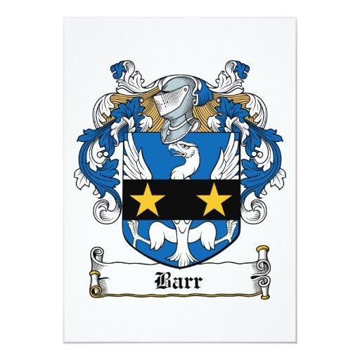 """Escudo de la familia de Barr Invitación 5"""" X 7"""""""