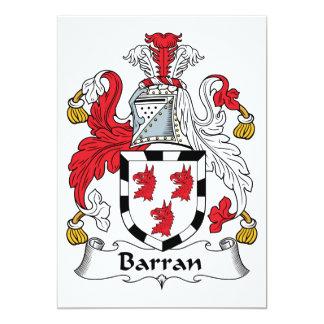 """Escudo de la familia de Barran Invitación 5"""" X 7"""""""