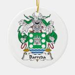 Escudo de la familia de Barreda Ornamento De Navidad