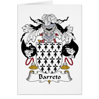 Escudo de la familia de Barreto Tarjeta De Felicitación