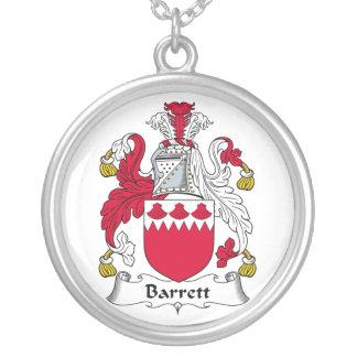 Escudo de la familia de Barrett Colgante Redondo