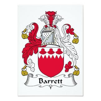"""Escudo de la familia de Barrett Invitación 5"""" X 7"""""""