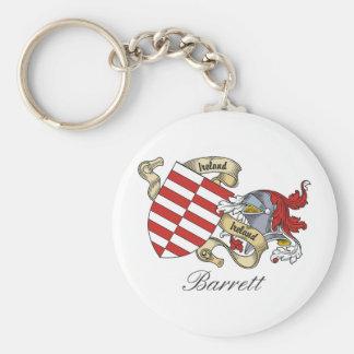 Escudo de la familia de Barrett Llavero Redondo Tipo Pin