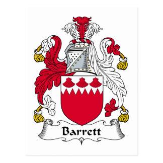 Escudo de la familia de Barrett Postales