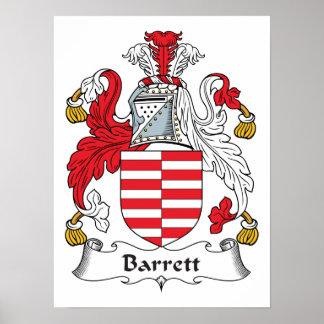 Escudo de la familia de Barrett Póster
