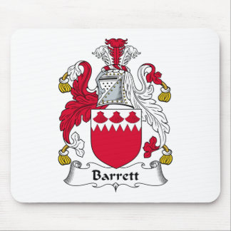 Escudo de la familia de Barrett Tapete De Ratones