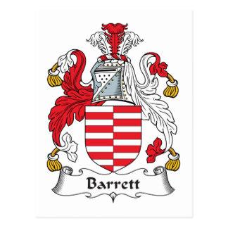 Escudo de la familia de Barrett Tarjeta Postal