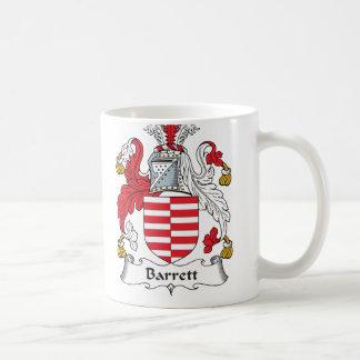 Escudo de la familia de Barrett Taza De Café