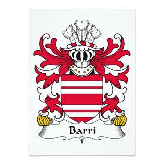 """Escudo de la familia de Barri Invitación 5"""" X 7"""""""
