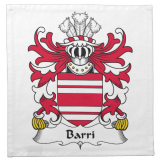 Escudo de la familia de Barri Servilletas
