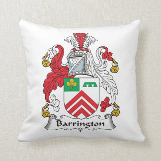 Escudo de la familia de Barrington Almohadas