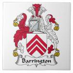 Escudo de la familia de Barrington Azulejo Cerámica