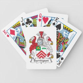 Escudo de la familia de Barrington Baraja Cartas De Poker