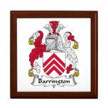 Escudo de la familia de Barrington Caja De Joyas