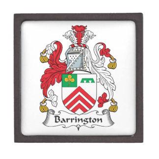 Escudo de la familia de Barrington Cajas De Regalo De Calidad