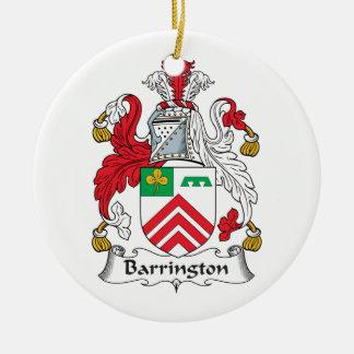 Escudo de la familia de Barrington Adorno Redondo De Cerámica