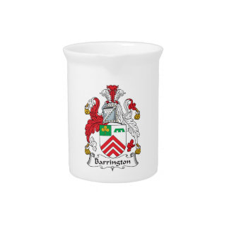 Escudo de la familia de Barrington Jarras Para Bebida