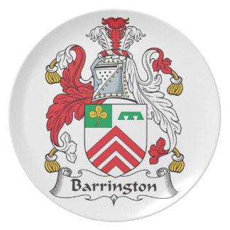 Escudo de la familia de Barrington Plato