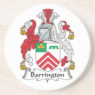 Escudo de la familia de Barrington Posavasos Personalizados