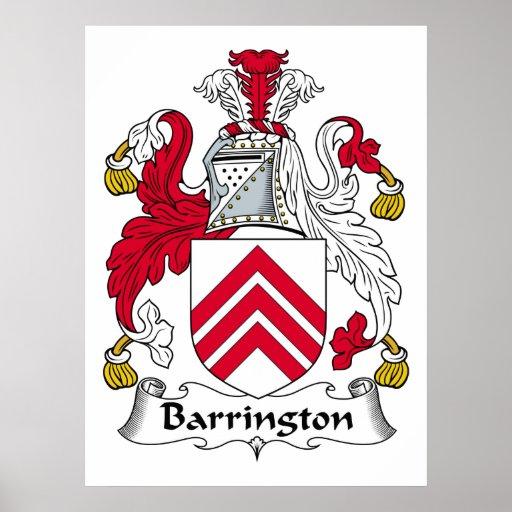 Escudo de la familia de Barrington Póster