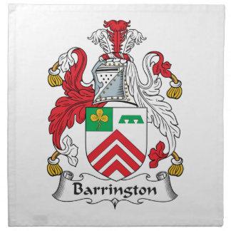 Escudo de la familia de Barrington Servilletas De Papel