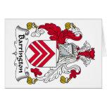 Escudo de la familia de Barrington Tarjetón