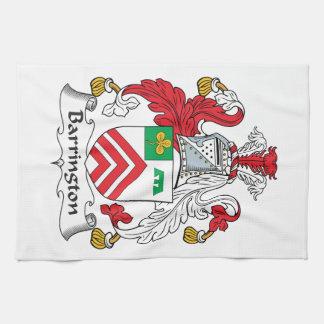 Escudo de la familia de Barrington Toalla De Mano
