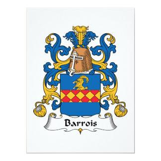 """Escudo de la familia de Barrois Invitación 6.5"""" X 8.75"""""""