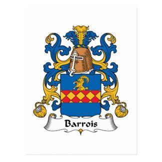 Escudo de la familia de Barrois Tarjetas Postales