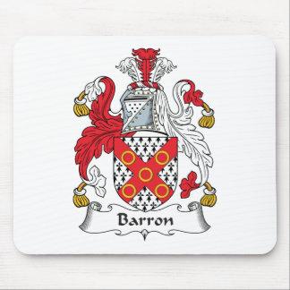 Escudo de la familia de Barron Alfombrilla De Ratón