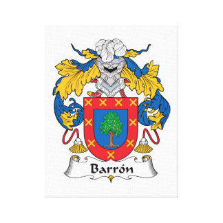 Escudo de la familia de Barron Lienzo Envuelto Para Galerías