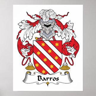 Escudo de la familia de Barros Póster