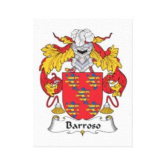 Escudo de la familia de Barroso Impresión En Lona Estirada