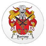 Escudo de la familia de Barroso Reloj De Pared