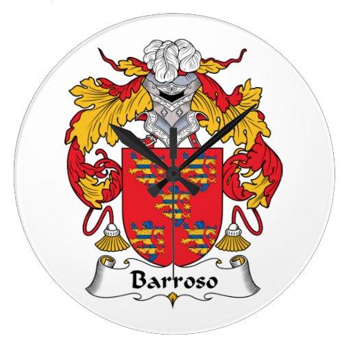 Escudo de la familia de Barroso Relojes De Pared