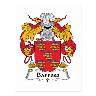 Escudo de la familia de Barroso Tarjetas Postales