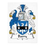 Escudo de la familia de Barry Invitaciones Personalizada