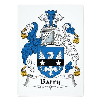 """Escudo de la familia de Barry Invitación 5"""" X 7"""""""