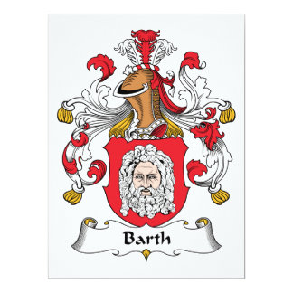 """Escudo de la familia de Barth Invitación 6.5"""" X 8.75"""""""