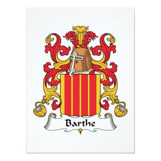"""Escudo de la familia de Barthe Invitación 6.5"""" X 8.75"""""""