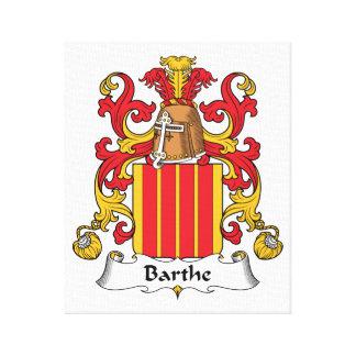 Escudo de la familia de Barthe Impresiones En Lienzo Estiradas
