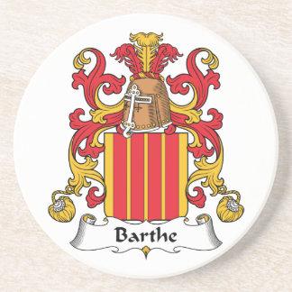 Escudo de la familia de Barthe Posavasos Para Bebidas