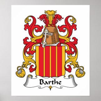 Escudo de la familia de Barthe Posters