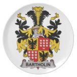 Escudo de la familia de Bartholin Plato Para Fiesta