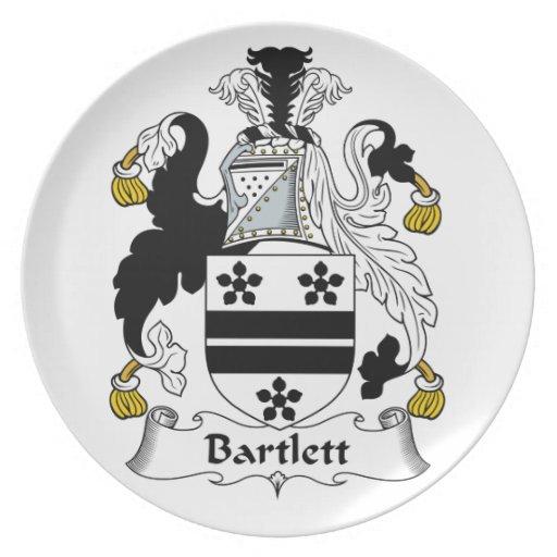 Escudo de la familia de Bartlett Plato De Cena
