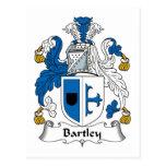 Escudo de la familia de Bartley Tarjetas Postales