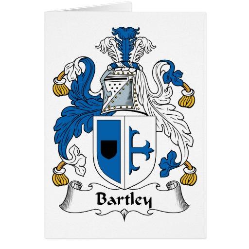 Escudo de la familia de Bartley Tarjetón