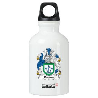 Escudo de la familia de Barton Botella De Agua