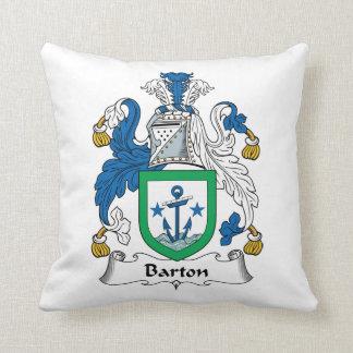 Escudo de la familia de Barton Cojín Decorativo